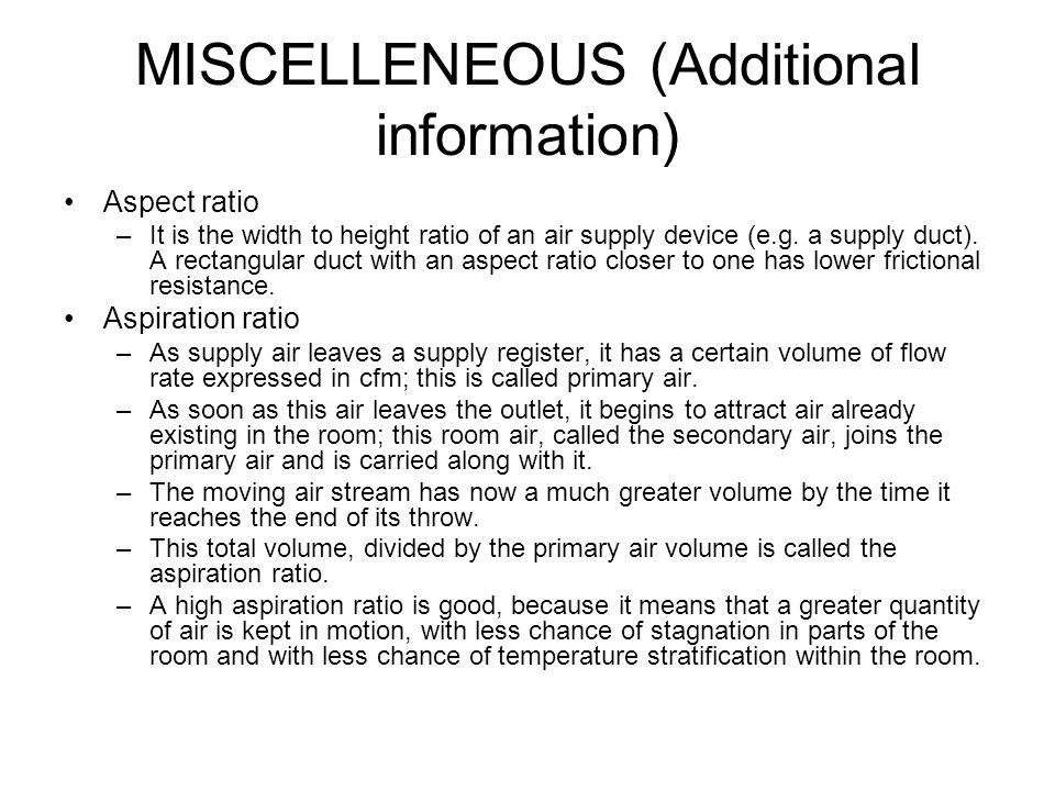 MISCELLENEOUS (Additional information)