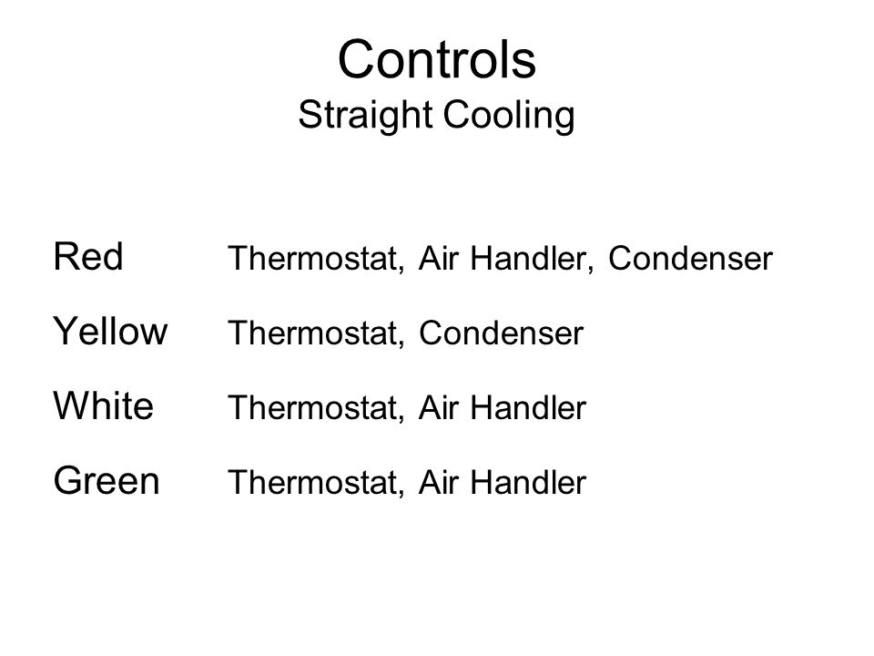 Controls Straight Cooling