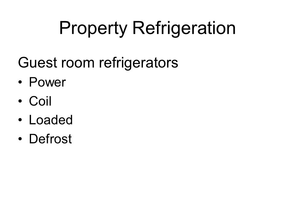 Property Refrigeration
