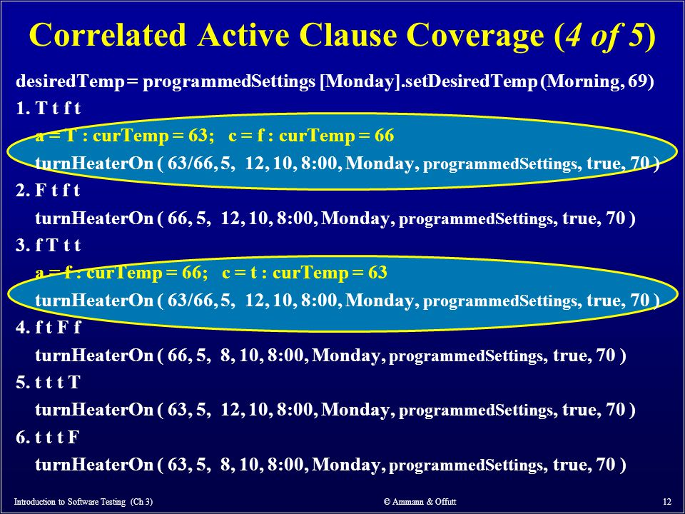 Correlated Active Clause Coverage (4 of 5)