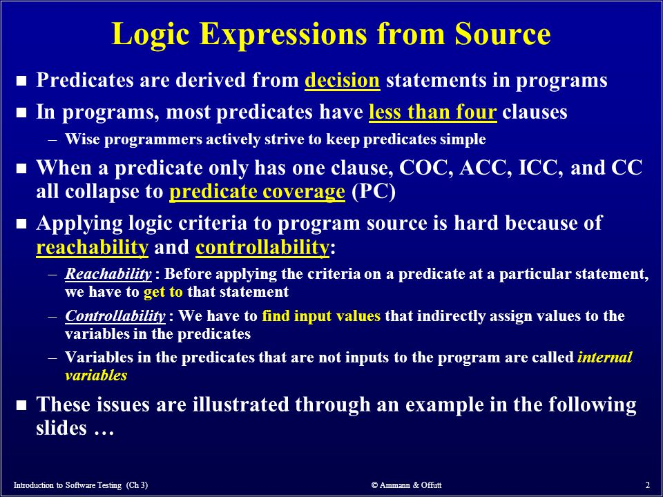 Logic Expressions from Source