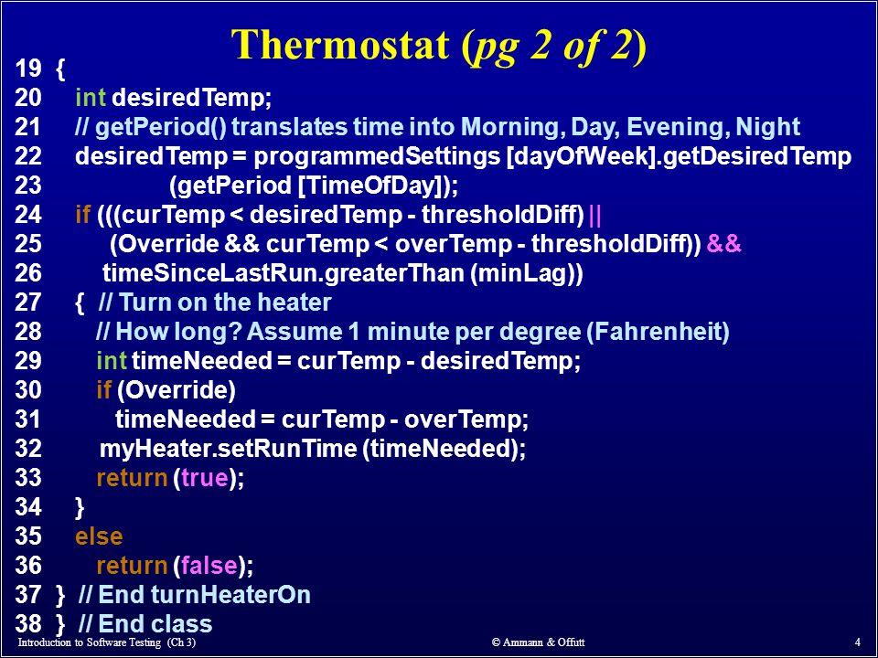 Thermostat (pg 2 of 2) 19 { 20 int desiredTemp;