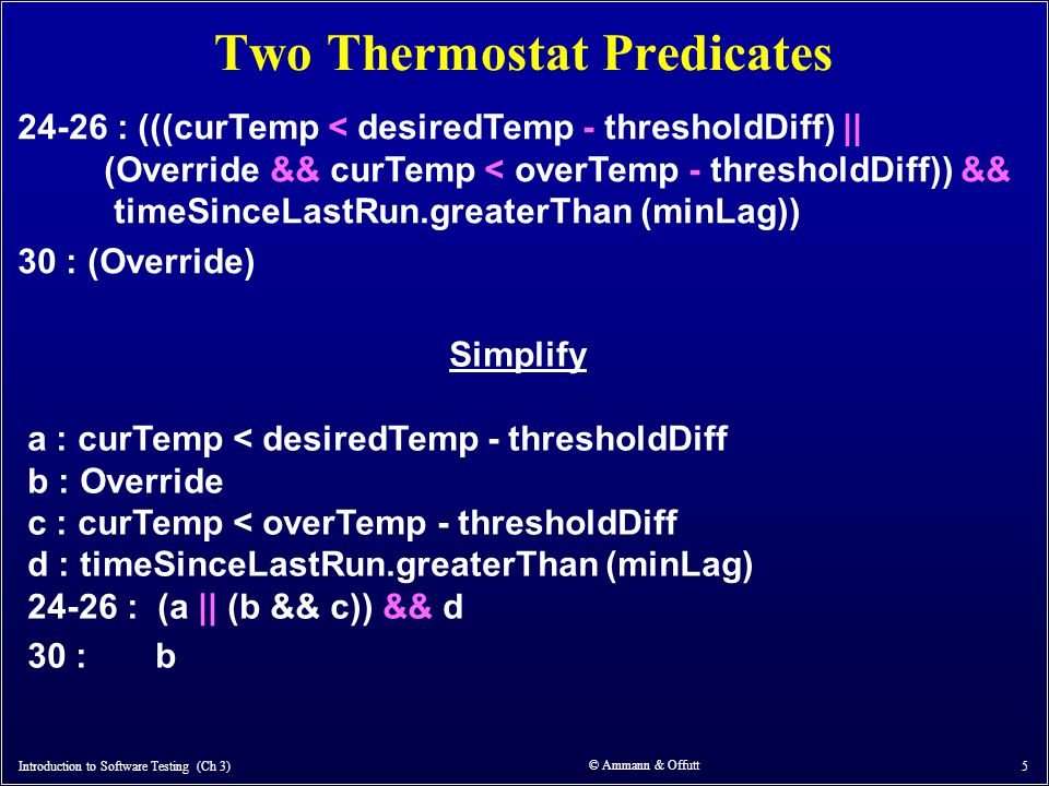 Two Thermostat Predicates