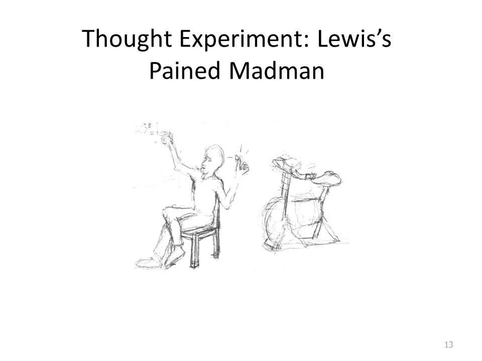 Thought Experiment: Lewis's Pained Madman