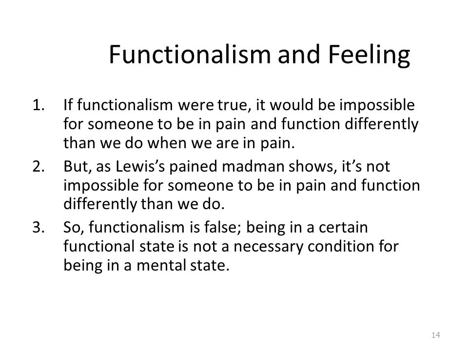 Functionalism and Feeling