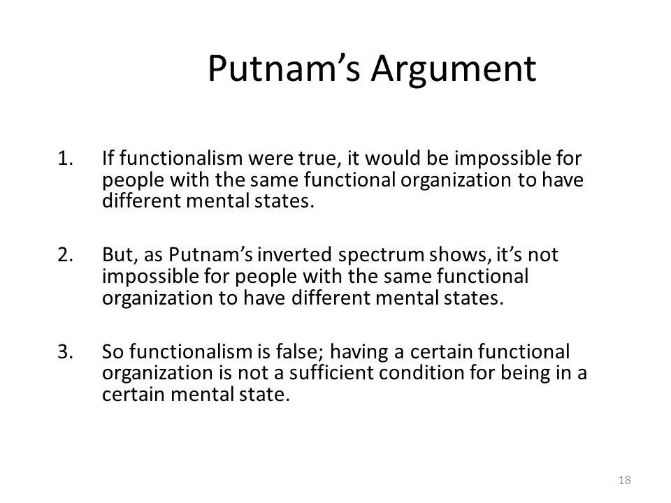 Putnam's Argument