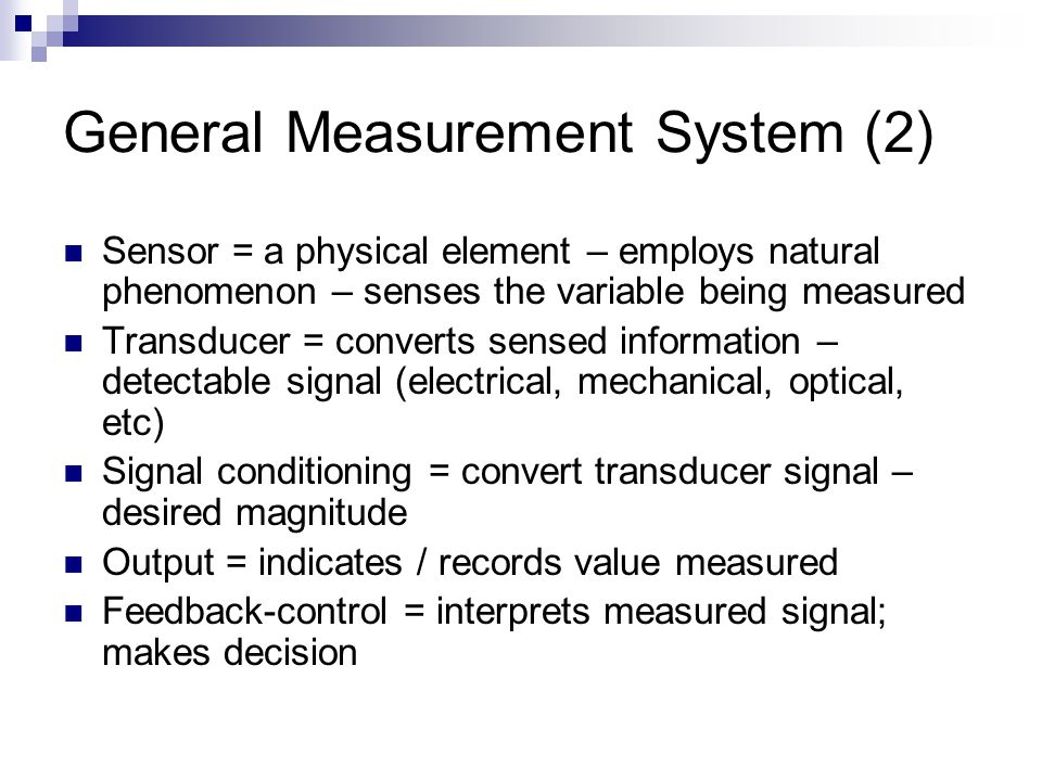 General Measurement System (2)