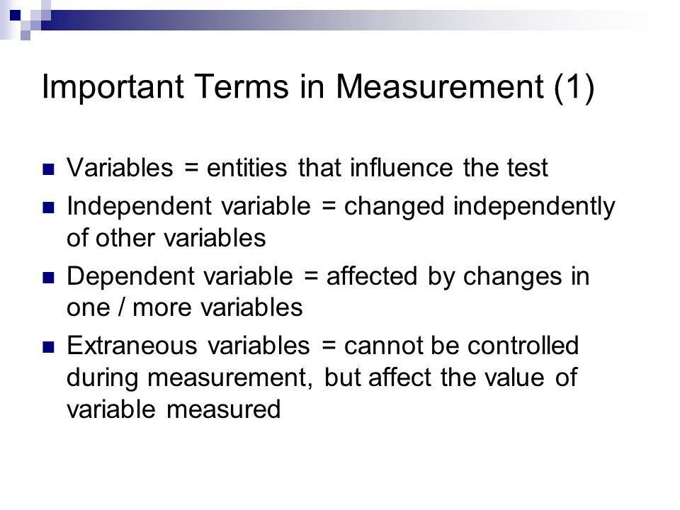 Important Terms in Measurement (1)