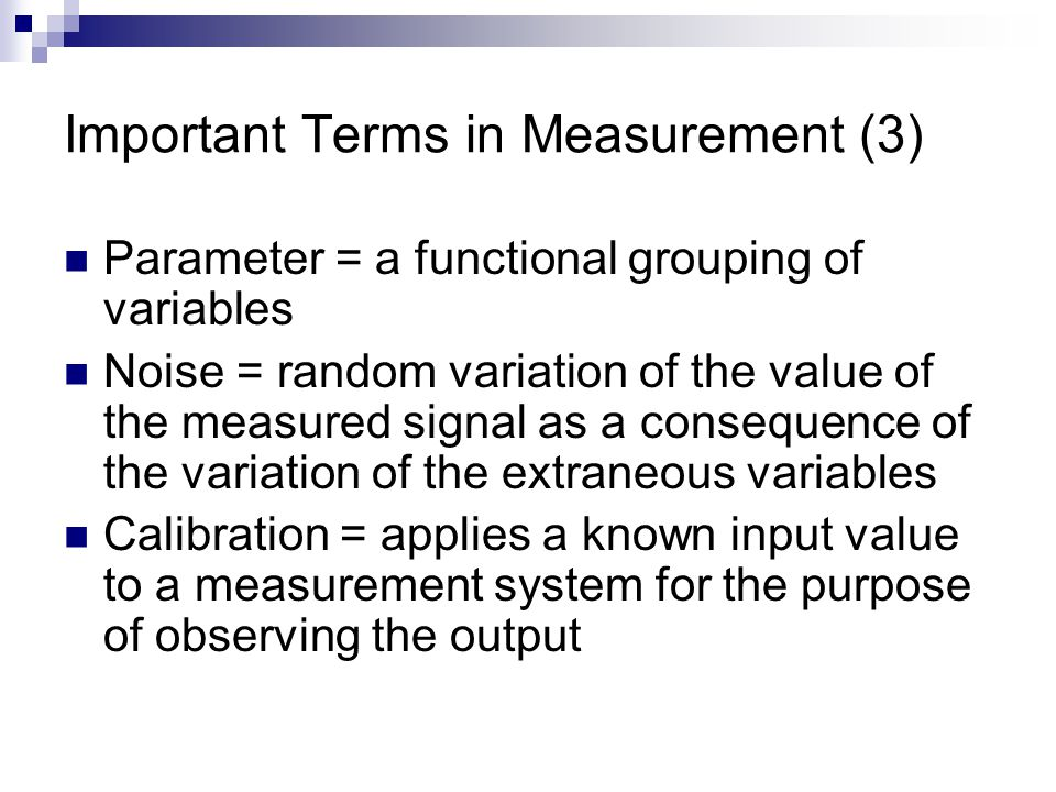 Important Terms in Measurement (3)