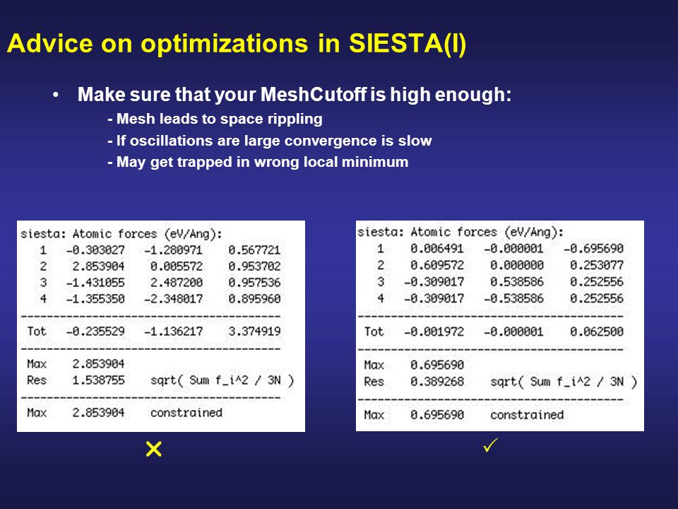 Advice on optimizations in SIESTA(I)