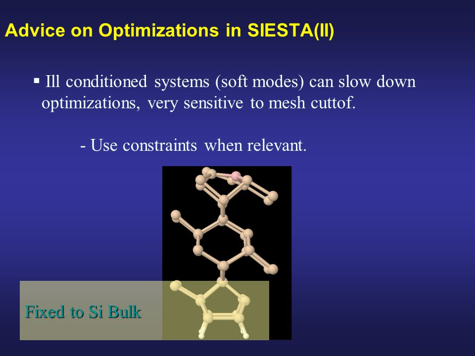 Advice on Optimizations in SIESTA(II)
