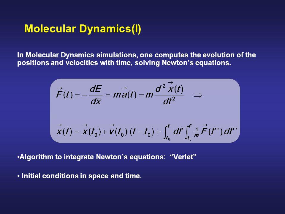 Molecular Dynamics(I)