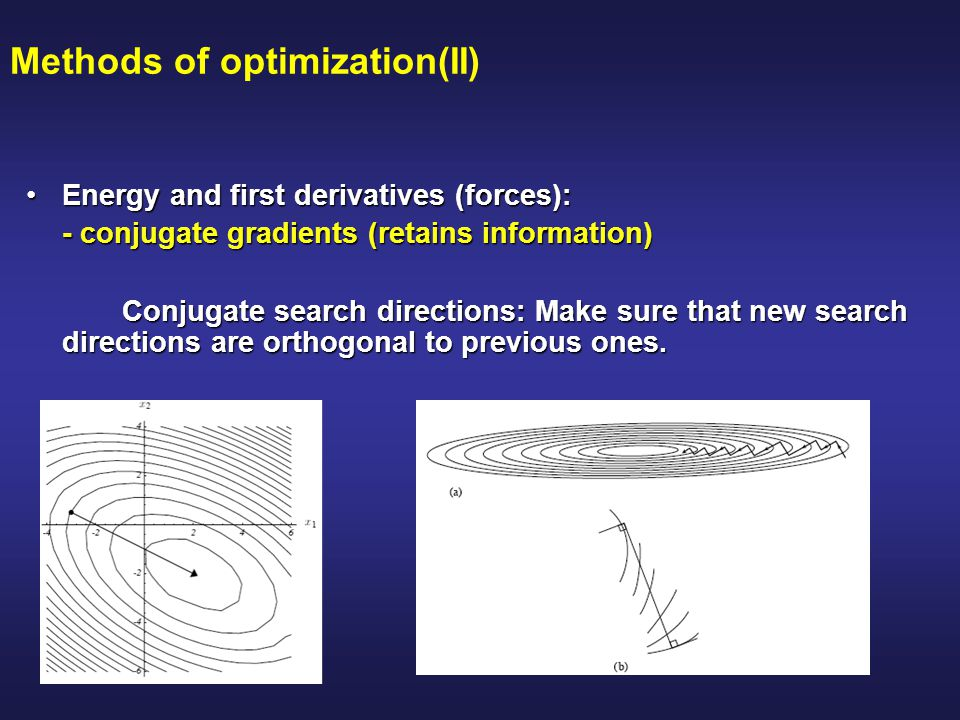 Methods of optimization(II)