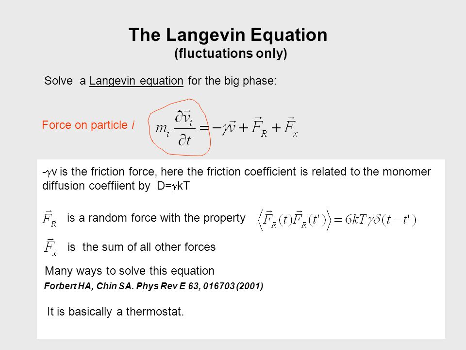 The Langevin Equation (fluctuations only)