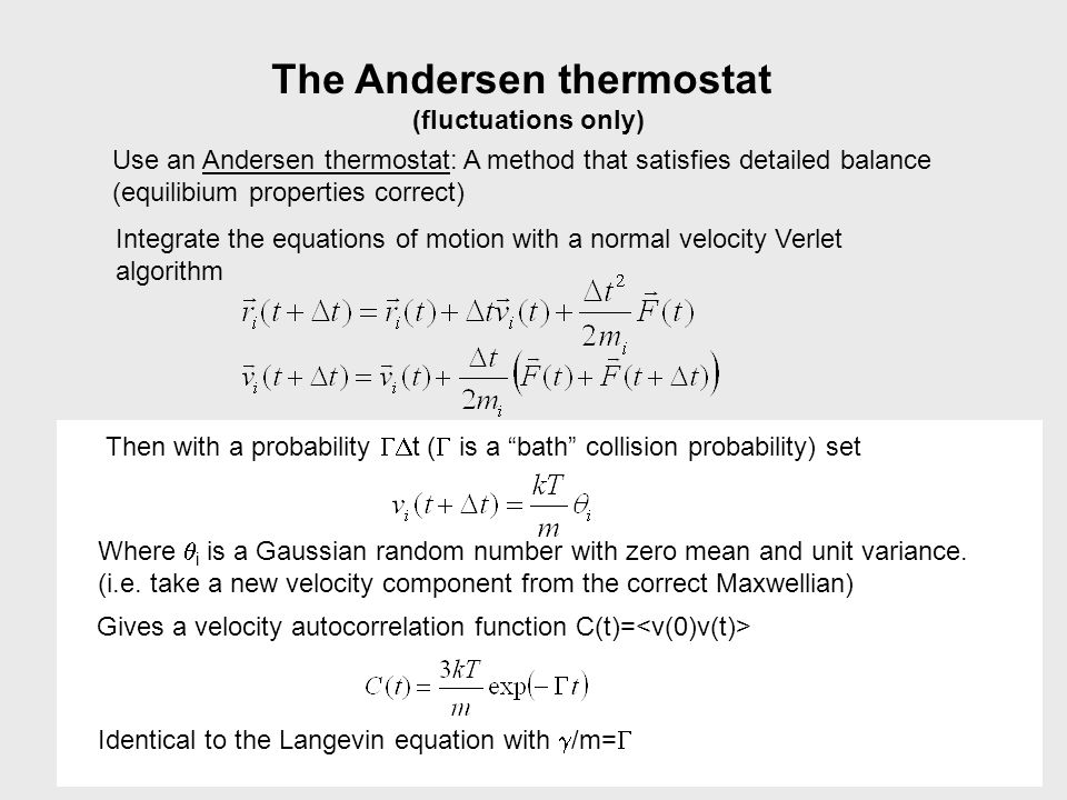 The Andersen thermostat