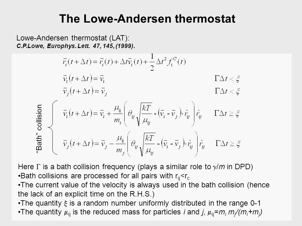 The Lowe-Andersen thermostat