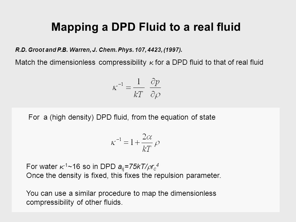 Mapping a DPD Fluid to a real fluid