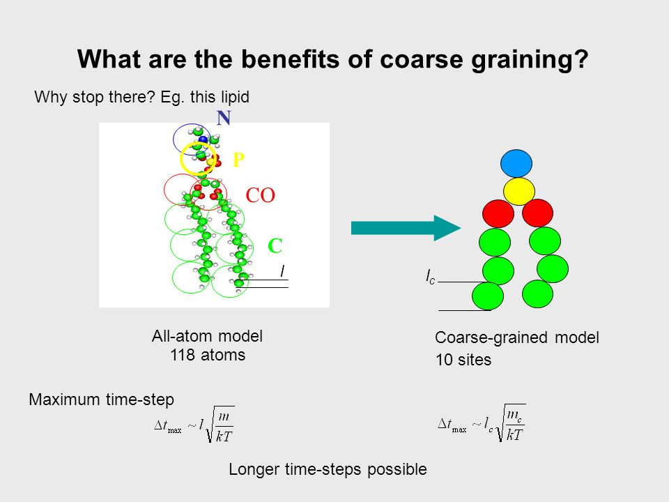 What are the benefits of coarse graining