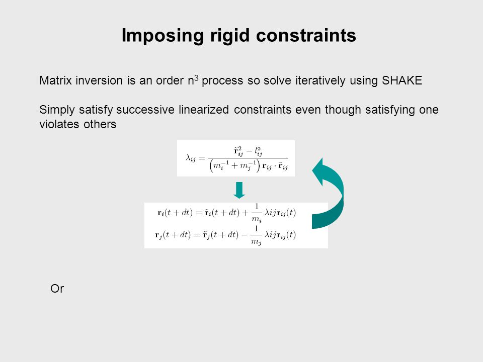 Imposing rigid constraints