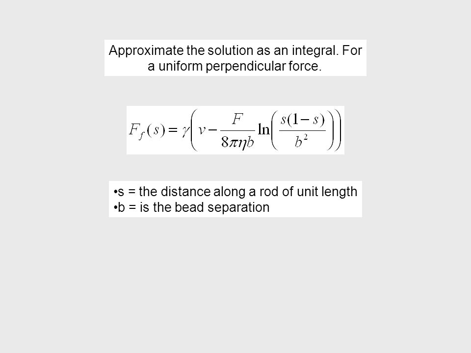 Approximate the solution as an integral. For