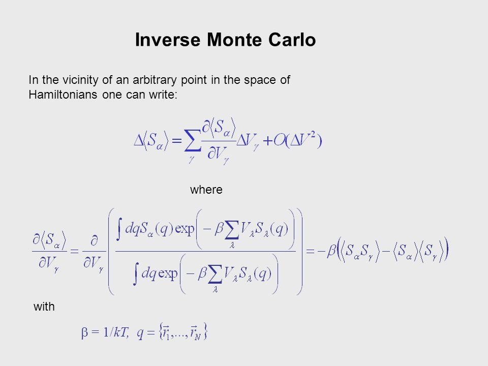 Inverse Monte Carlo b = 1/kT,