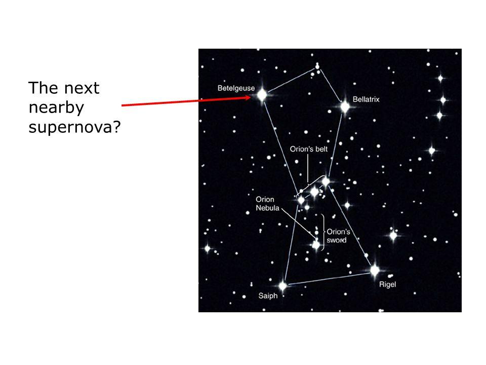 The next nearby supernova