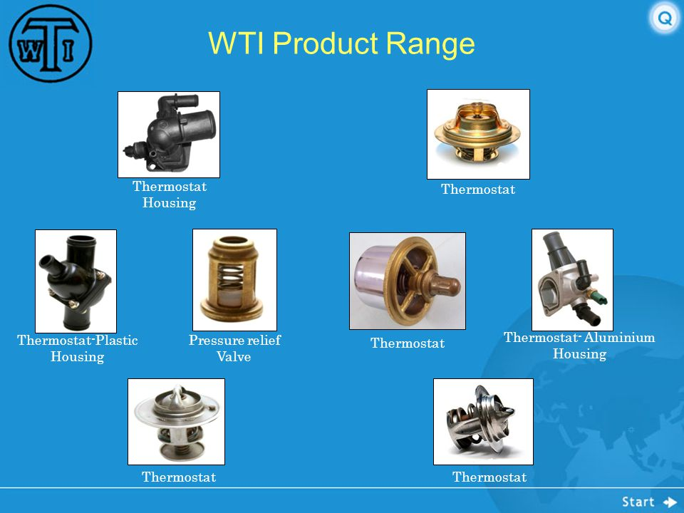WTI Product Range Thermostat Housing Thermostat