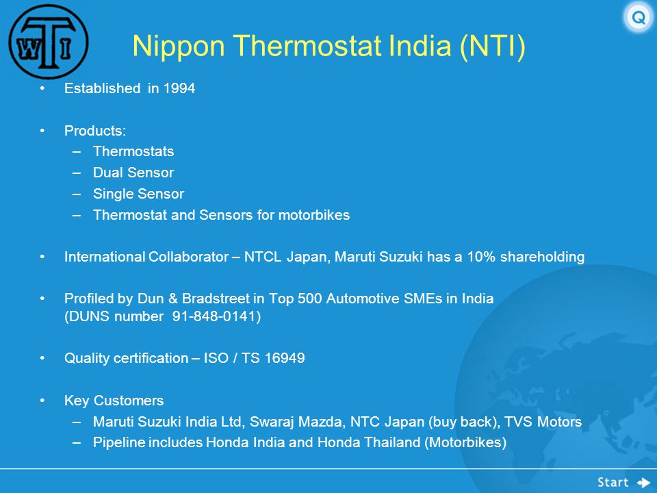 Nippon Thermostat India (NTI)