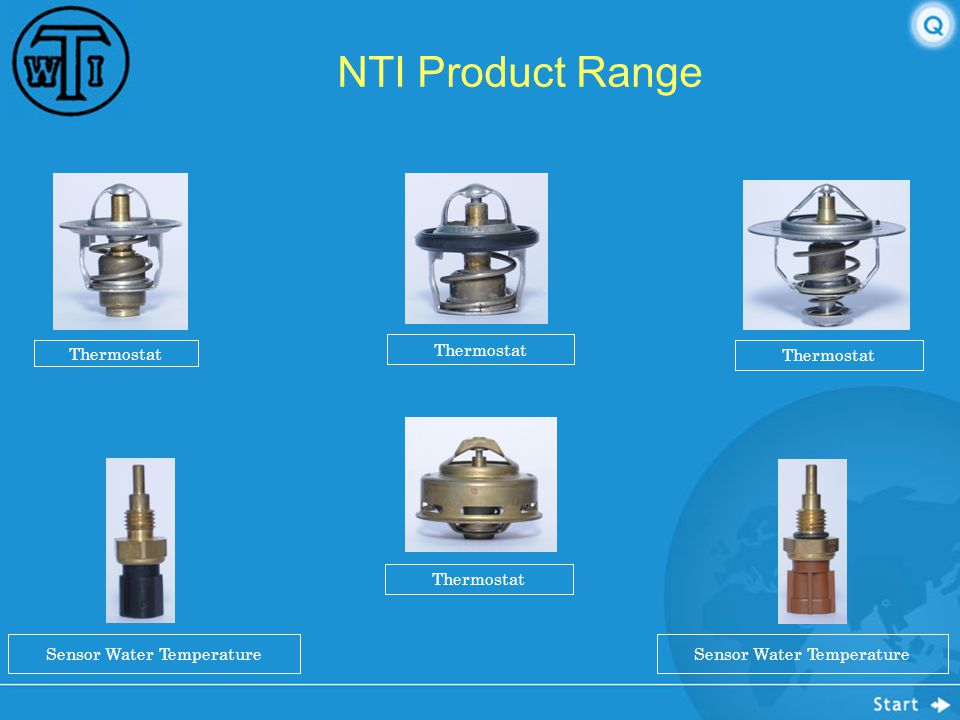 NTI Product Range Thermostat Thermostat Thermostat Thermostat