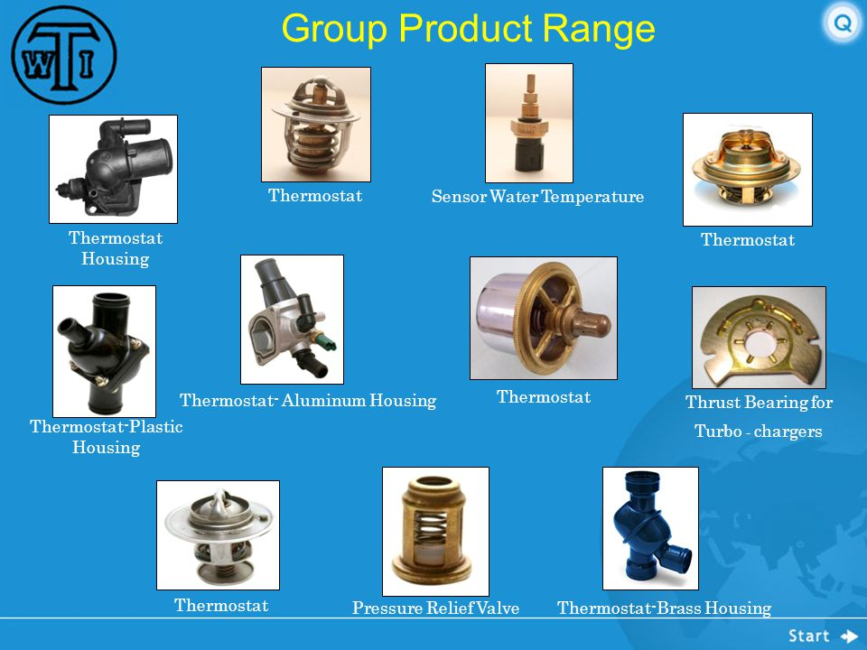 Group Product Range Thermostat Sensor Water Temperature