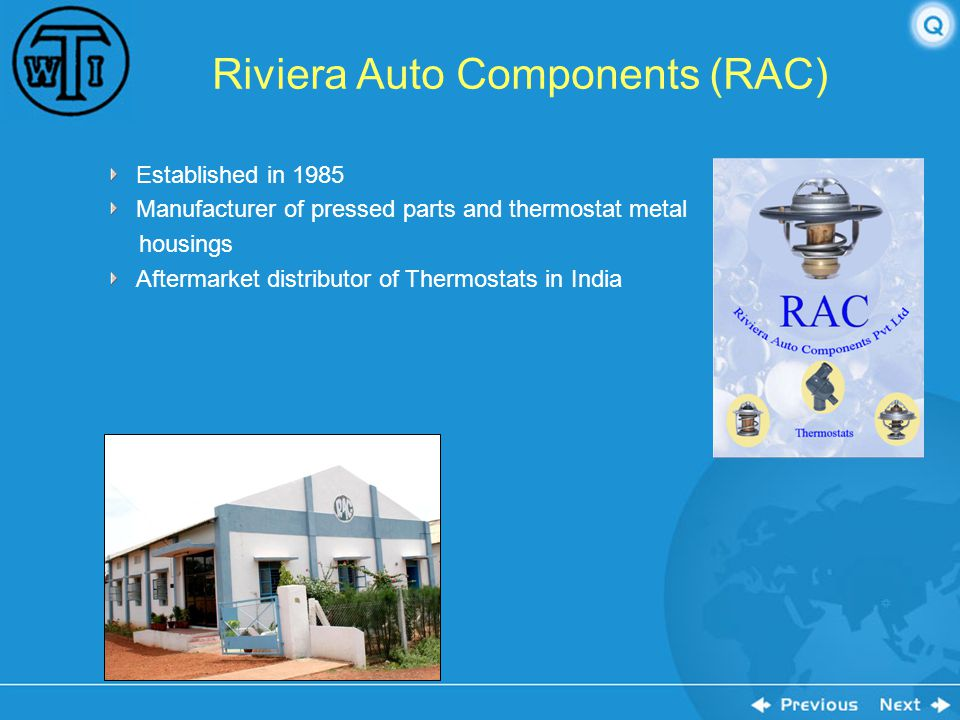Riviera Auto Components (RAC)
