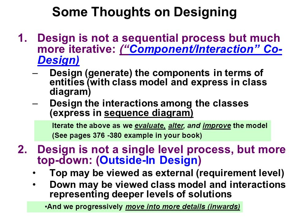 Some Thoughts on Designing