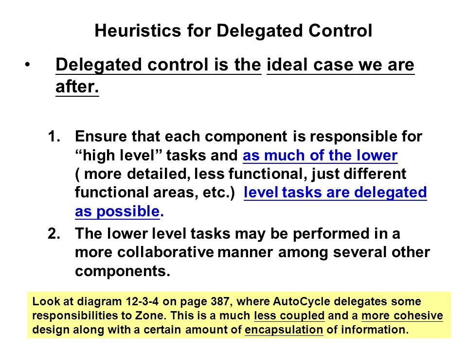 Heuristics for Delegated Control