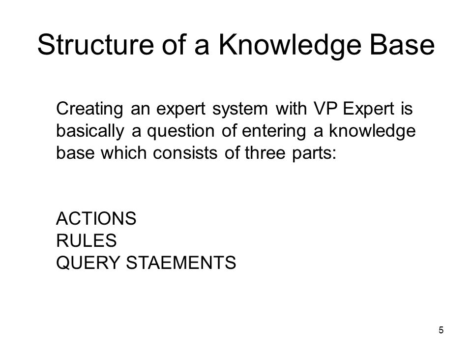 Structure of a Knowledge Base
