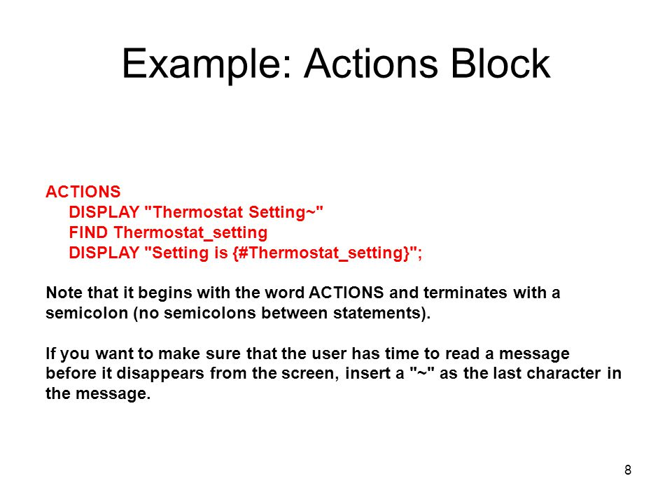Example: Actions Block