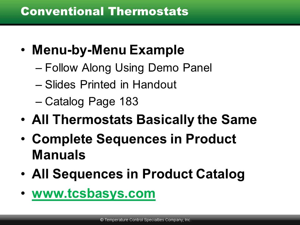 Conventional Thermostats