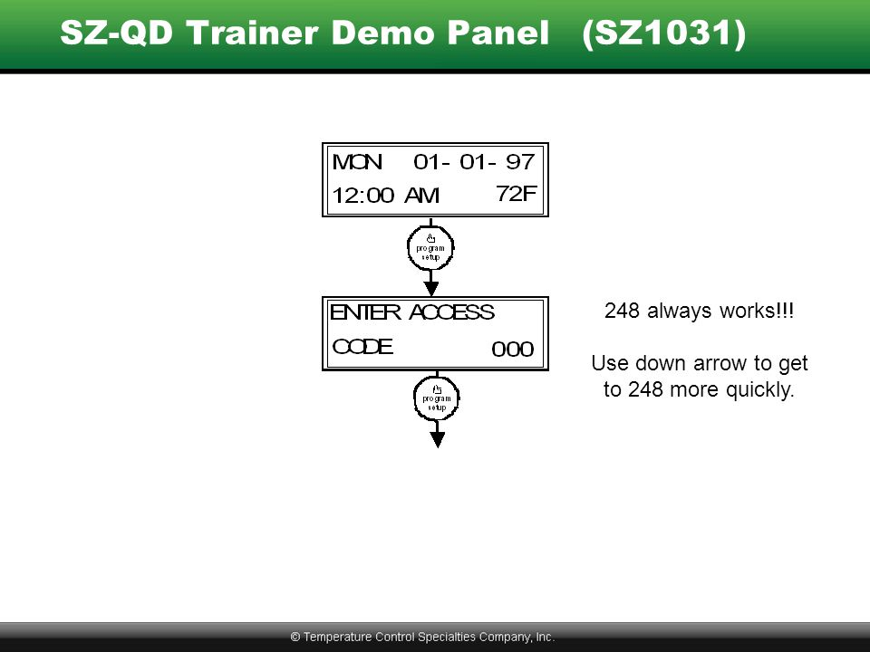 SZ-QD Trainer Demo Panel (SZ1031)