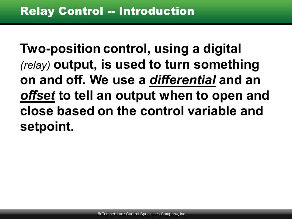 Relay Control -- Introduction