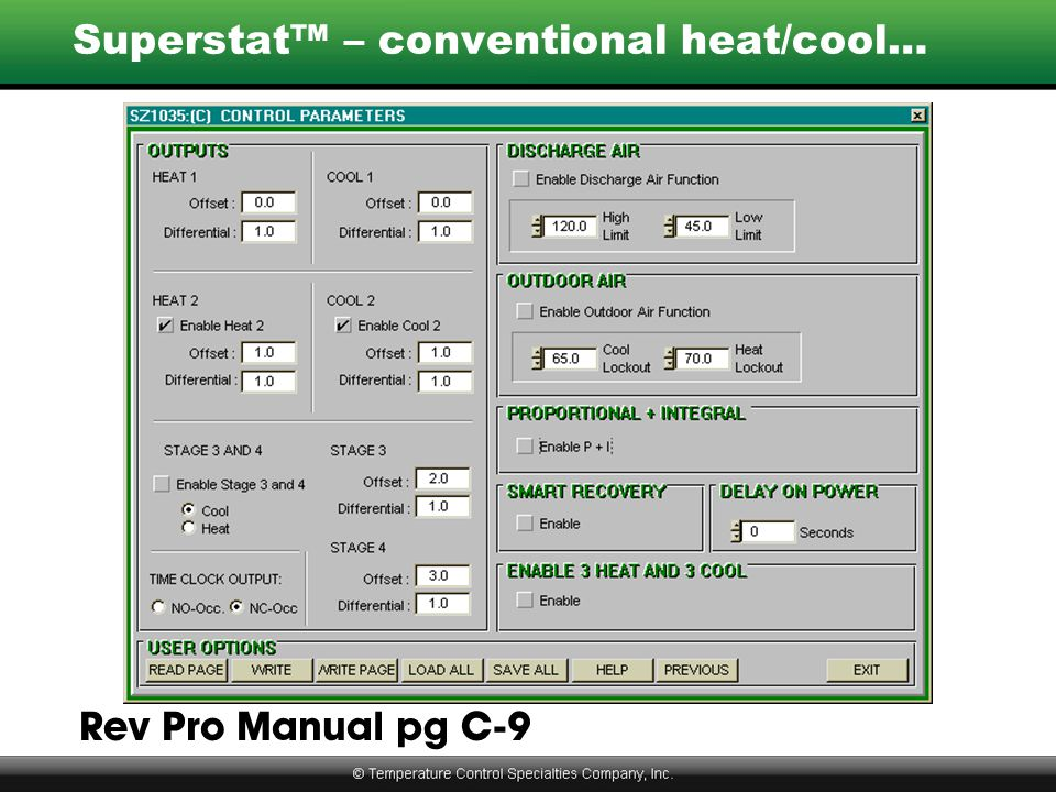 Superstat™ – conventional heat/cool…