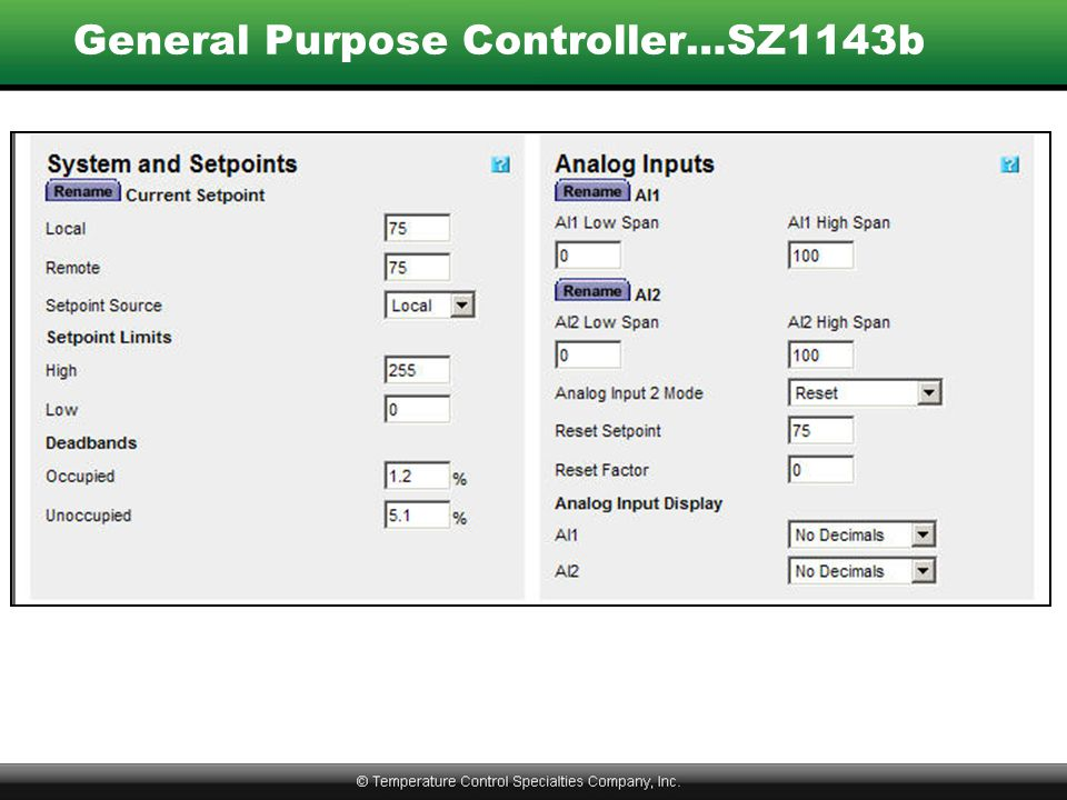 General Purpose Controller…SZ1143b