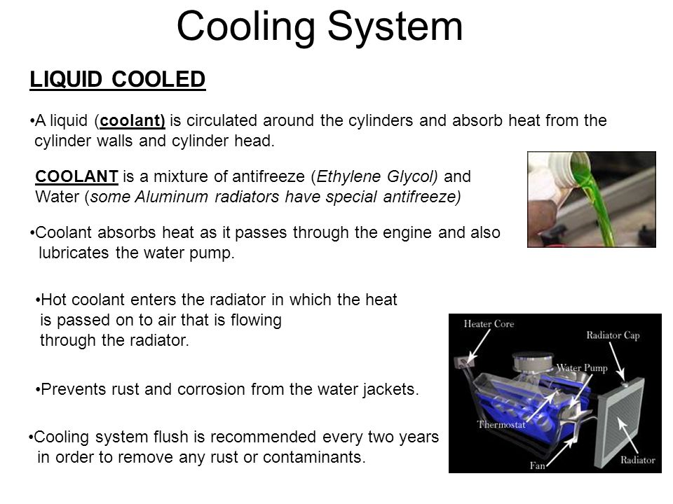 Cooling System LIQUID COOLED