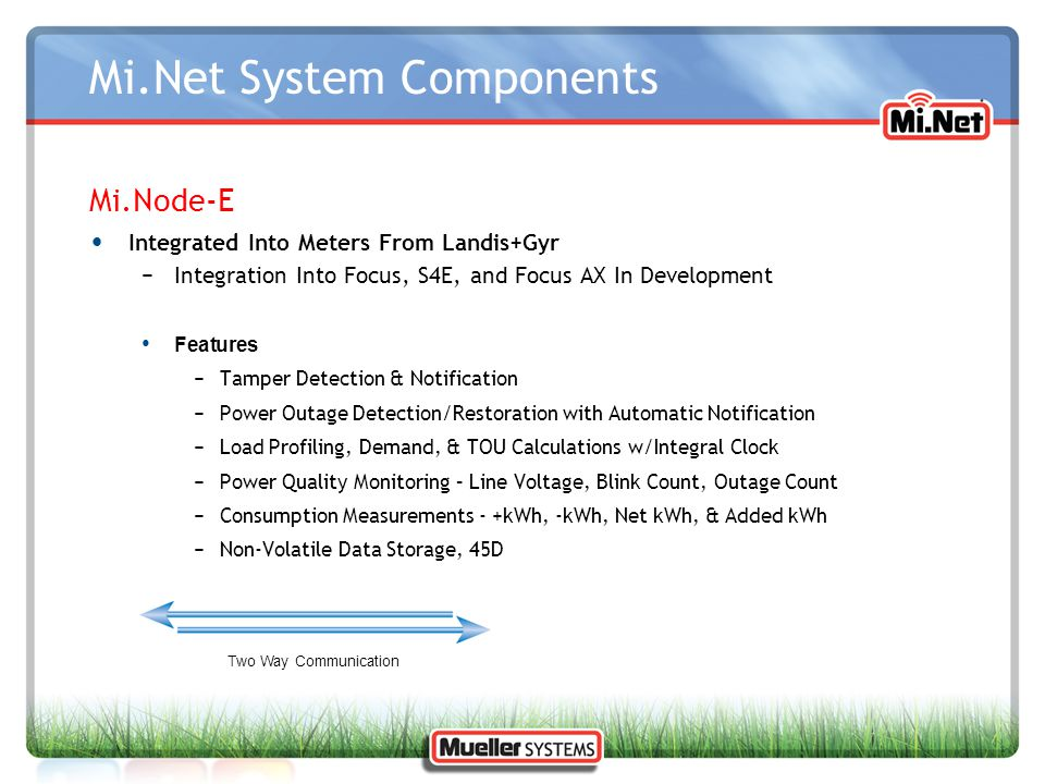 Mi.Net System Components