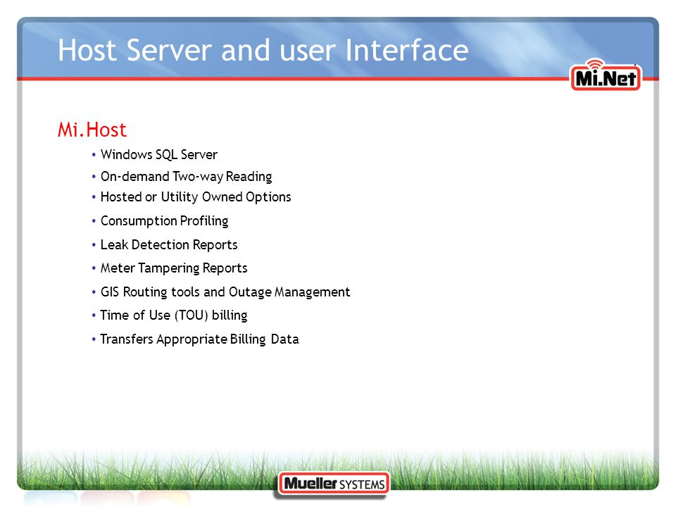 Host Server and user Interface