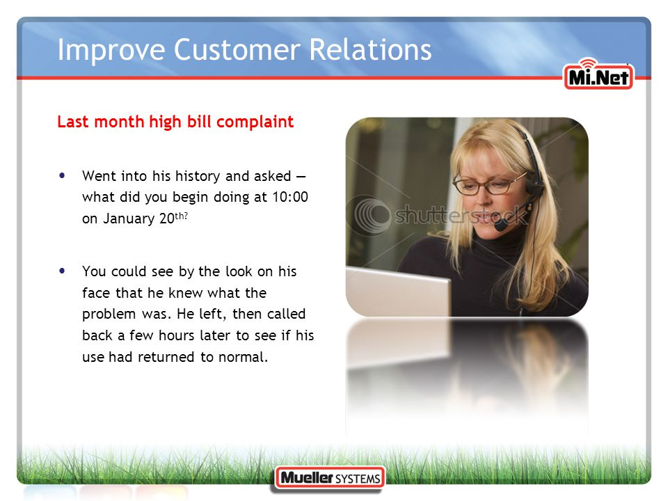Improve Customer Relations