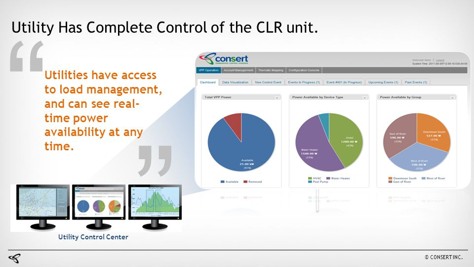 Utility Has Complete Control of the CLR unit.