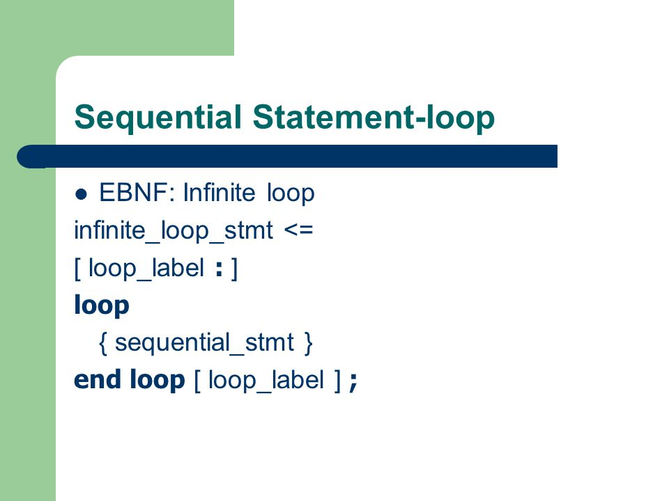 Sequential Statement-loop