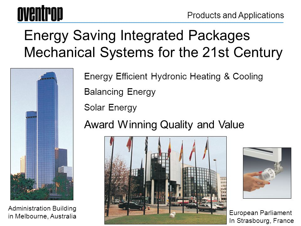 Energy Saving Integrated Packages