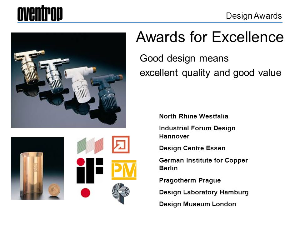 Awards for Excellence Good design means