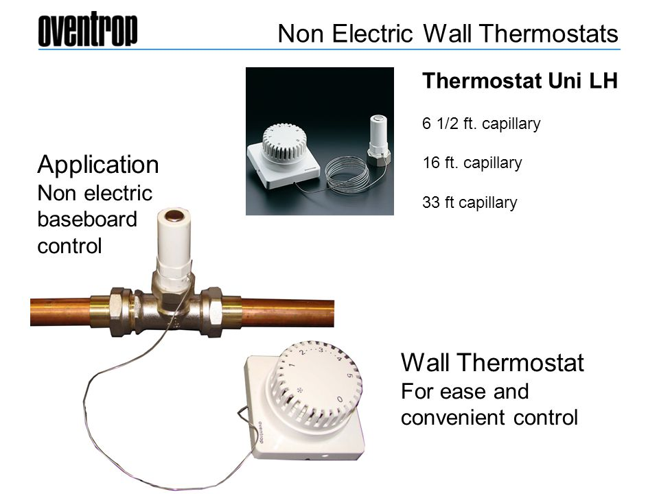 Non Electric Wall Thermostats