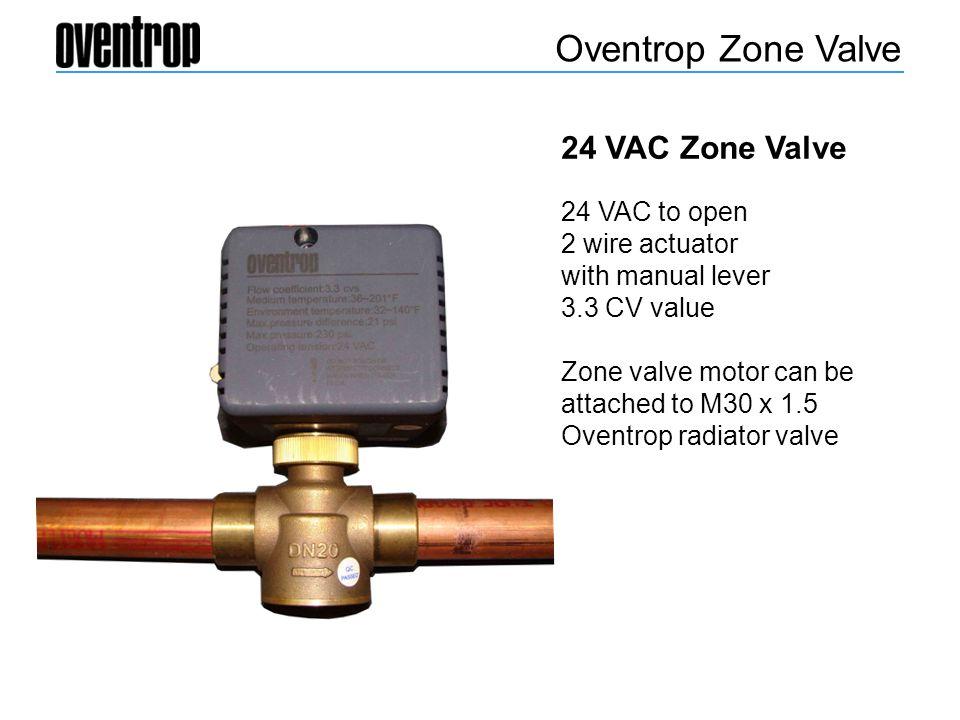 Oventrop Zone Valve 24 VAC Zone Valve 24 VAC to open 2 wire actuator